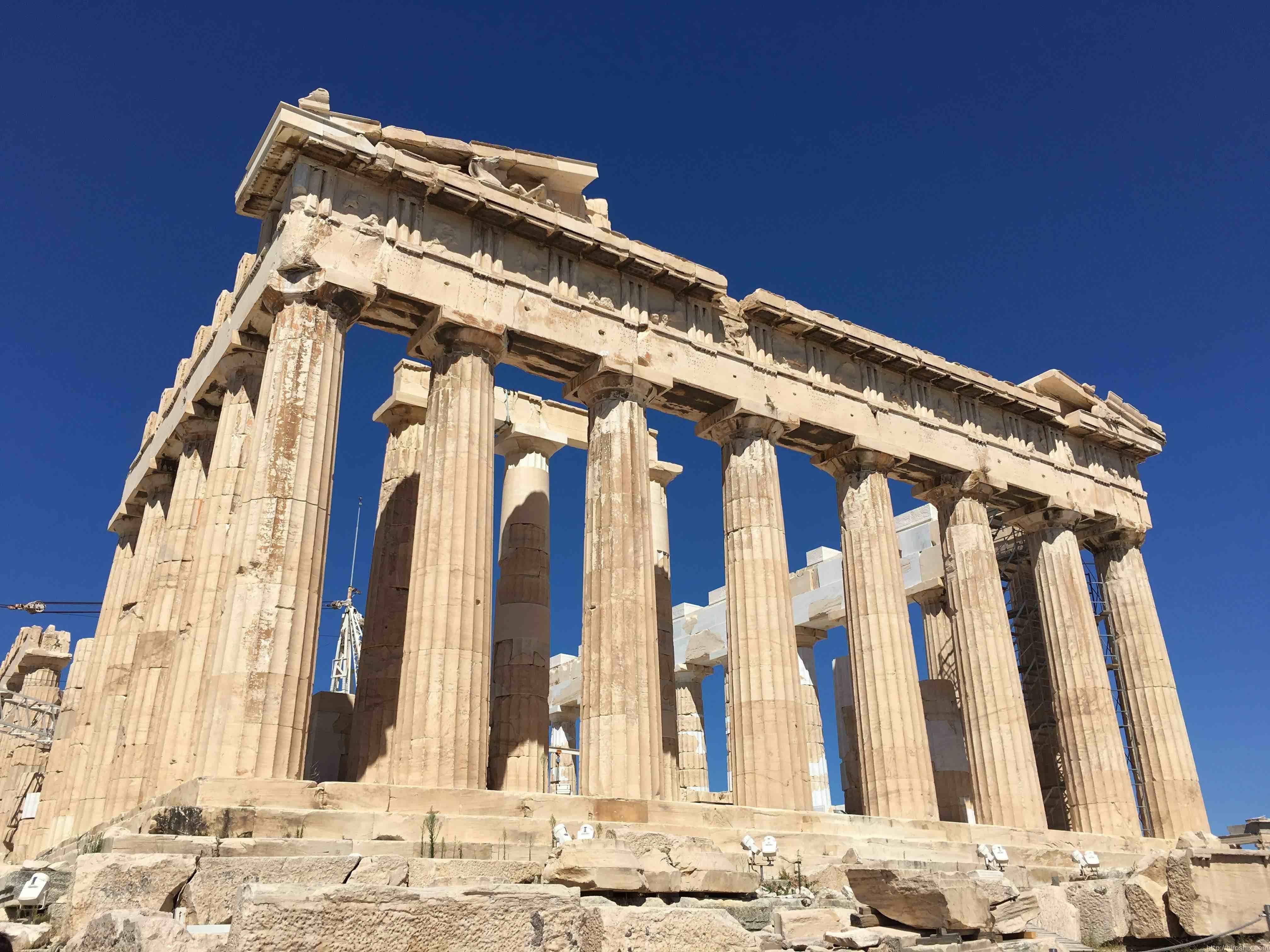 アクロポリス遺跡。パルテノン神殿で強大な小宇宙を感じる