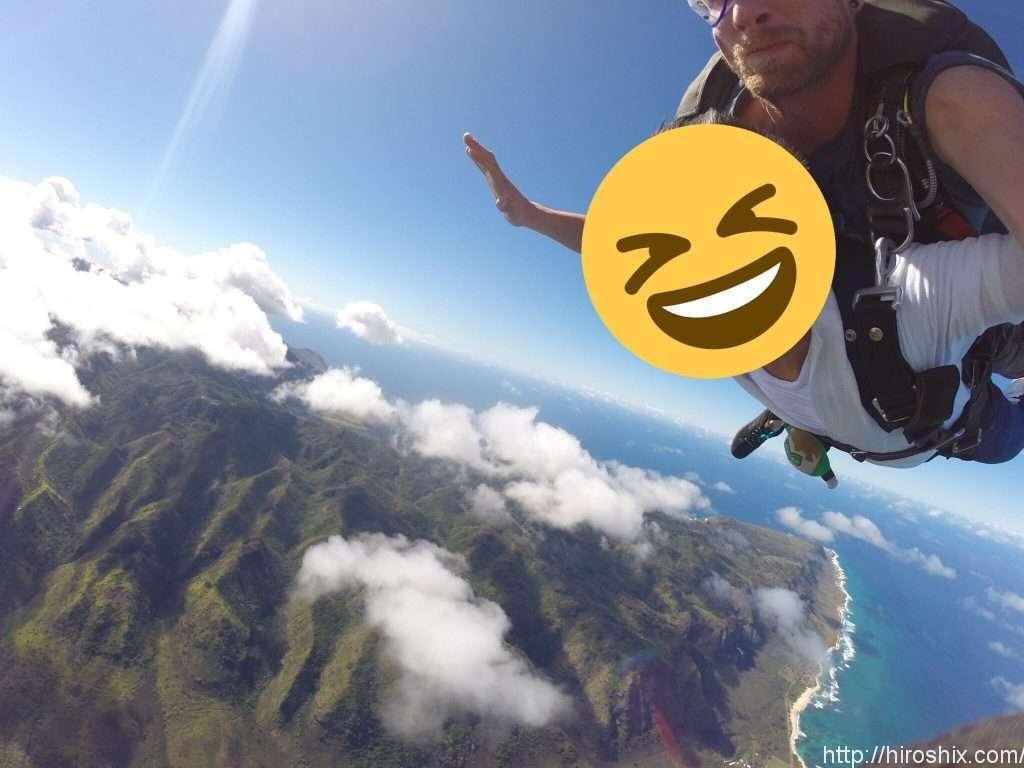 ハワイ・オアフ島で4000メートルの上空からスカイダイビング!