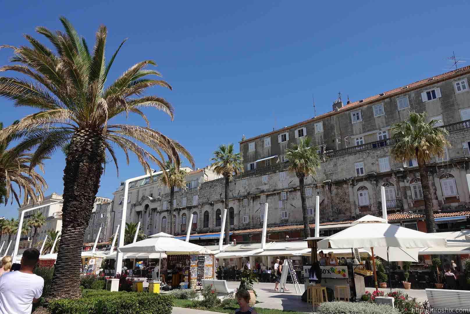 クロアチア、世界遺産の街スプリットへ海外旅行(東ヨーロッパ)